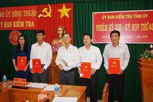 Công bố quyết định nhân sự của Ban Bí thư tại Bình Thuận