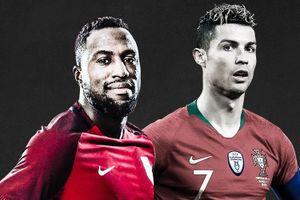Siêu phẩm đánh gót của Ronaldo được tái hiện ở Mỹ