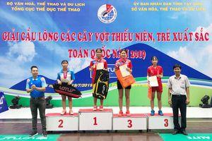 Nguyễn Thị Cẩm Tú (Đồng Nai) vô địch đơn nữ U.15 Giải cầu lông các cây vợt thiếu niên, trẻ xuất sắc năm 2019