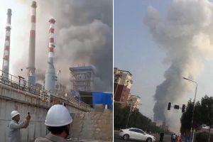 Nổ nhà máy khí hóa Trung Quốc, 12 người mất tích