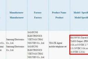 Sạc Galaxy Note10 sản xuất ở VN, nạp siêu nhanh lên đến 45 W