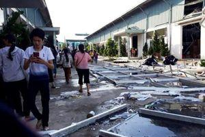 Thanh Hóa: Sập nhà xưởng, hàng nghìn công nhân phải nghỉ việc