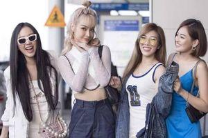 Trước loạt dự án cá nhân 2019, Trang Pháp, MLee rạng rỡ cùng hội bạn thân lên đường đến Singapore tham dự sự kiện thể thao Đông Nam Á