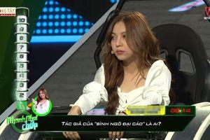 Tham gia chương trình Nhanh như chớp, bạn gái Quang Hải bị chê thiếu kiến thức