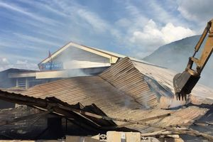 Hỏa hoạn ở xưởng chế biến gỗ, nhiều tài sản bị thiêu rụi