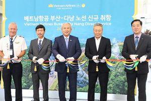 Vietnam Airlines khai trương đường bay thẳng Busan-Đà Nẵng