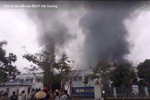 Hải Dương: Cháy lớn tại công ty TNHH may mặc MaKaLot