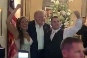 Tổng thống Trump bất ngờ xuất hiện trong đám cưới của người ủng hộ