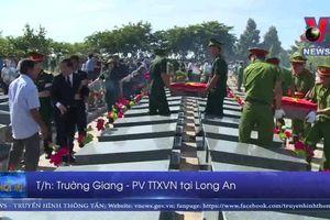 Long An an tán liệt sĩ hy sinh tại Campuchia