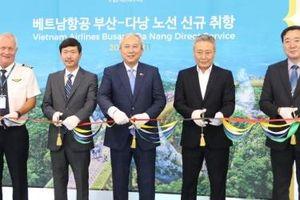 Vietnam Airlines khai trương đường bay Busan - Đà Nẵng