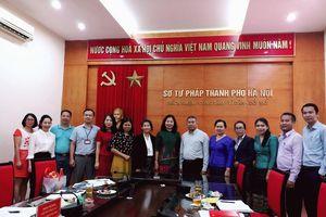 Trao đổi về công tác hòa giải cơ sở giữa Sở Tư pháp TP Hà Nội và Bộ Tư pháp Lào