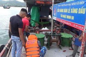 Cảnh sát biển tạm giữ tàu vận chuyển gần 40.000 lít dầu DO bất hợp pháp