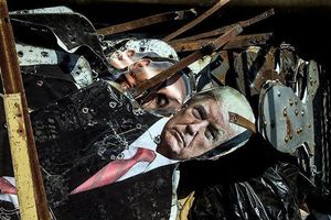 Binh sĩ Iran dùng ảnh Tổng thống Mỹ, Thủ tướng Israel làm bia tập bắn