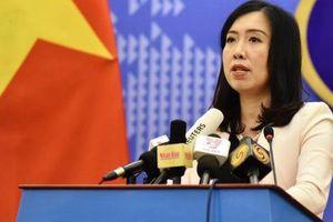 Bộ Ngoại giao Việt Nam thông tin về hoạt động của tàu Hải Dương 8 tại Biển Đông