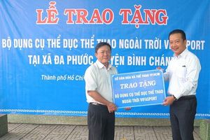 Sở VH-TT TPHCM tặng thiết bị Gym ngoài trời cho xã Đa Phước