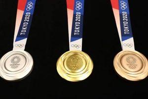 Huy chương Olympic 2020 được làm từ 6,2 triệu điện thoại phế thải