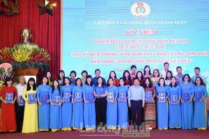 LĐLĐ quận Thanh Xuân biểu dương 90 gương cán bộ Công đoàn tiêu biểu