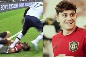 CĐV Man Utd 'phát điên' vì hot boy mới nổi bị cầu thủ Tottenham giẫm lên ngực