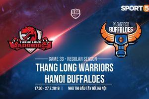 Derby lần thứ 3 tại Thủ đô, Thang Long Warriors và Hanoi Buffaloes quyết đấu cho tấm vé vào vòng Playoffs