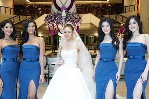 H'Hen Niê khoe sắc bên dàn mỹ nhân khi làm phù dâu cho lễ cưới Hoa hậu Hoàn vũ Thái Lan