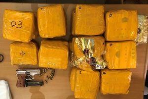 Thu cơ số lớn súng, đạn của 2 đối tượng vận chuyển gần 20 kg ma túy
