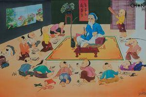 Cuộc hội ngộ thú vị giữa tranh lụa Mai Long và Trương Văn Ý