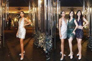Mặc váy ánh kim xẻ sâu tận rốn, H'Hen Niê quẩy tung sàn với hội chị em Miss Universe 2018