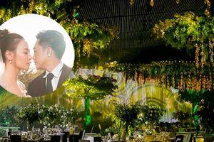 Không gian lễ cưới sang trọng, ngập sắc xanh của Cường Đô la - Đàm Thu Trang