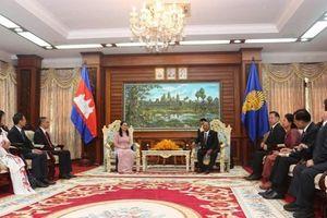 Việt Nam ưu tiên phát triển quan hệ, hợp tác truyền thống với Campuchia