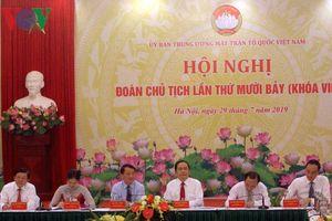 Cơ cấu Đoàn Chủ tịch Ủy ban Trung ương MTTQ VN khóa IX có gì mới?