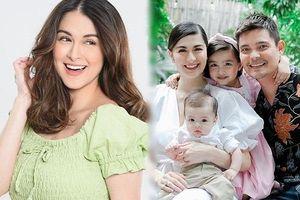 'Mỹ nhân đẹp nhất Philippines' rạng ngời bên chồng và hai con