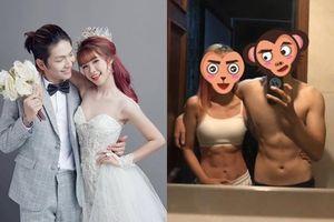 Vợ chồng Khởi My - Kelvin Khánh khoe cơ bụng 6 múi khiến fans 'hết hồn' vì quá đẹp