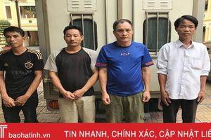 Bắt ổ nhóm chuyên trộm trâu ở Hương Khê