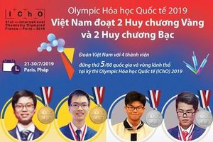 Đội tuyển Olympic Hóa học Việt Nam đoạt 2 HCV, 2 HCB