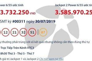 Kết quả xổ số Vietlott 30/7/2019: Hơn 35 tỷ đồng vào túi ai?