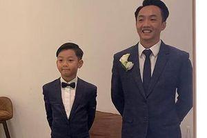 Bé Subeo bảnh bao khi diện đồ đôi với bố Cường Đô La