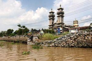 Công bố tình trạng khẩn cấp nguy cơ sạt lở sông Ông Chưởng