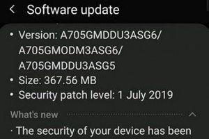 Bản cập nhật mới với chế độ 'Night Mode' trên Samsung Galaxy A70
