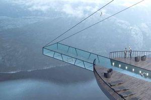 Thiết kế khách sạn cheo leo trên vách đá