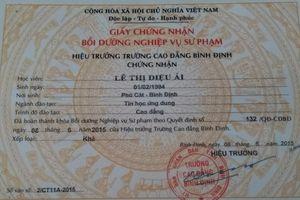 Hàng trăm giáo viên nguy cơ mất việc do giấy chứng nhận sư phạm: UBND tỉnh Bình Định yêu cầu làm rõ
