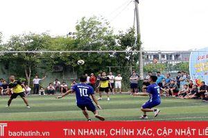 Đội New Focus vô địch giải bóng lưới Hà Tĩnh mở rộng lần thứ nhất năm 2019