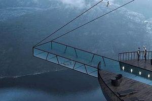 Khách sạn trên vách đá cao hơn 600 mét không dành cho người yếu tim