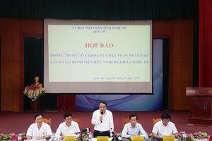 Họp báo công bố nguyên nhân sự cố chạy thận nhân tạo ở Nghệ An