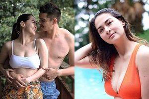 'Mỹ nhân đẹp nhất Philippines' gợi cảm tình tứ bên chồng