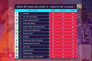 BXH V-League 2019 vòng 19 mới nhất: Hà Nội FC tái chiếm ngôi đầu từ CLB TP. HCM