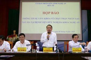 Xác định nguyên nhân gây ra sự cố chạy thận nhân tạo tại Nghệ An