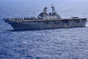 Tàu 'khủng' của Mỹ tập trận ngay 'cửa ngõ' Biển Đông