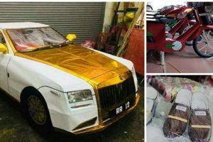 Cúng cô hồn bằng siêu xe dát vàng, thời trang hàng hiệu với quan niệm 'trần sao âm vậy'