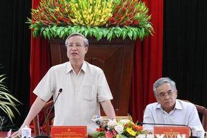 Thường trực Ban Bí thư Trần Quốc Vượng làm việc với Tỉnh ủy Kon Tum