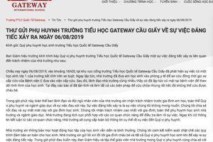 Bị phản ứng ra thông báo vô cảm, trường quốc tế Gateway gửi lời xin lỗi gia đình bé trai tử vong vì bị bỏ quên trên xe